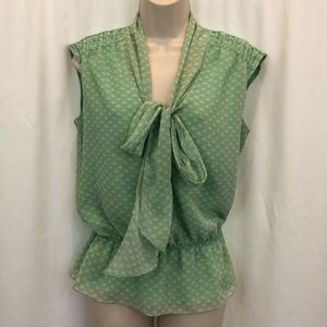 Max Studio Size Small Sleeveless Top Mint Green